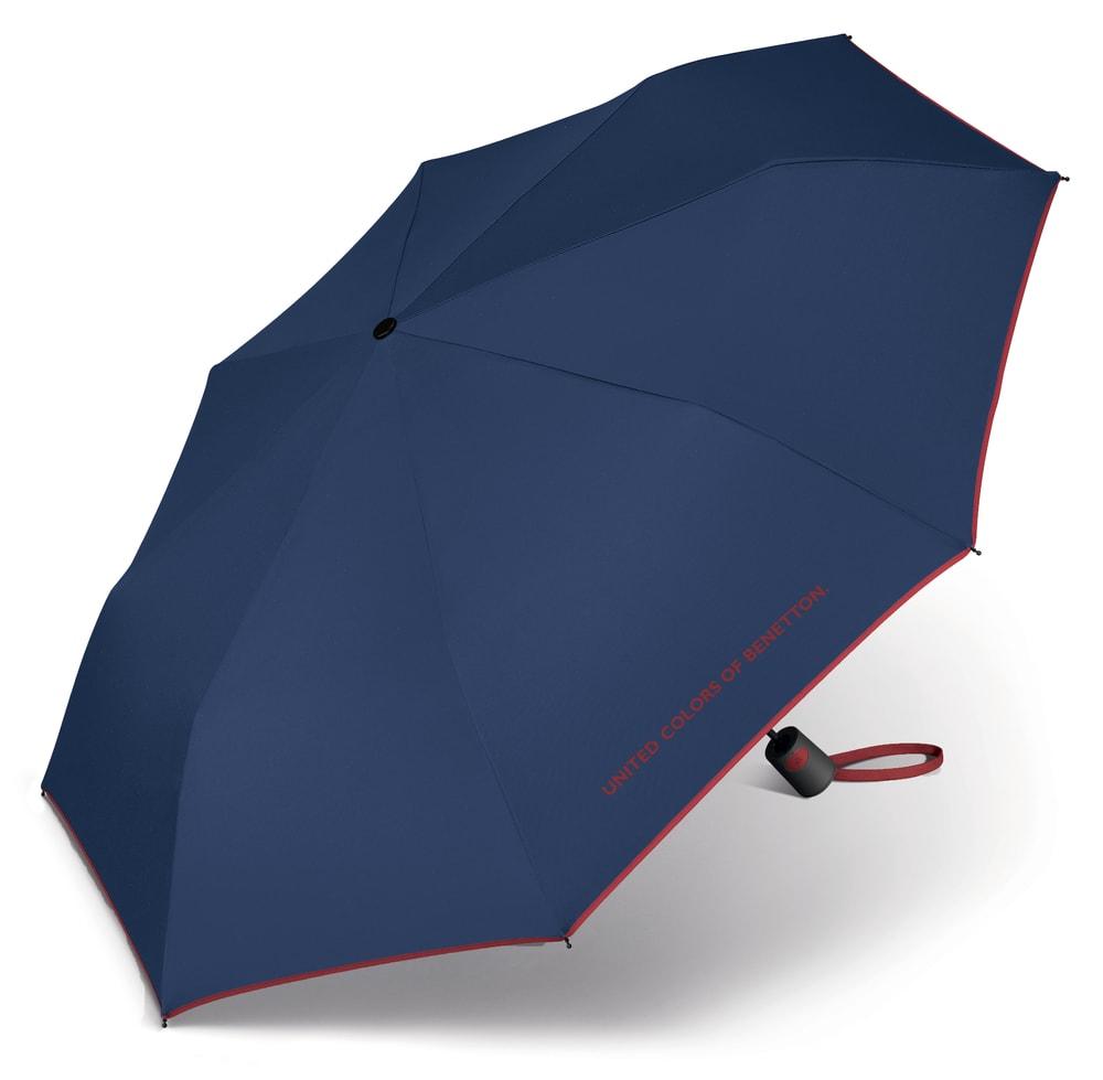 United Colors of Benetton Skládací poloautomatický deštník 56600 - modrá
