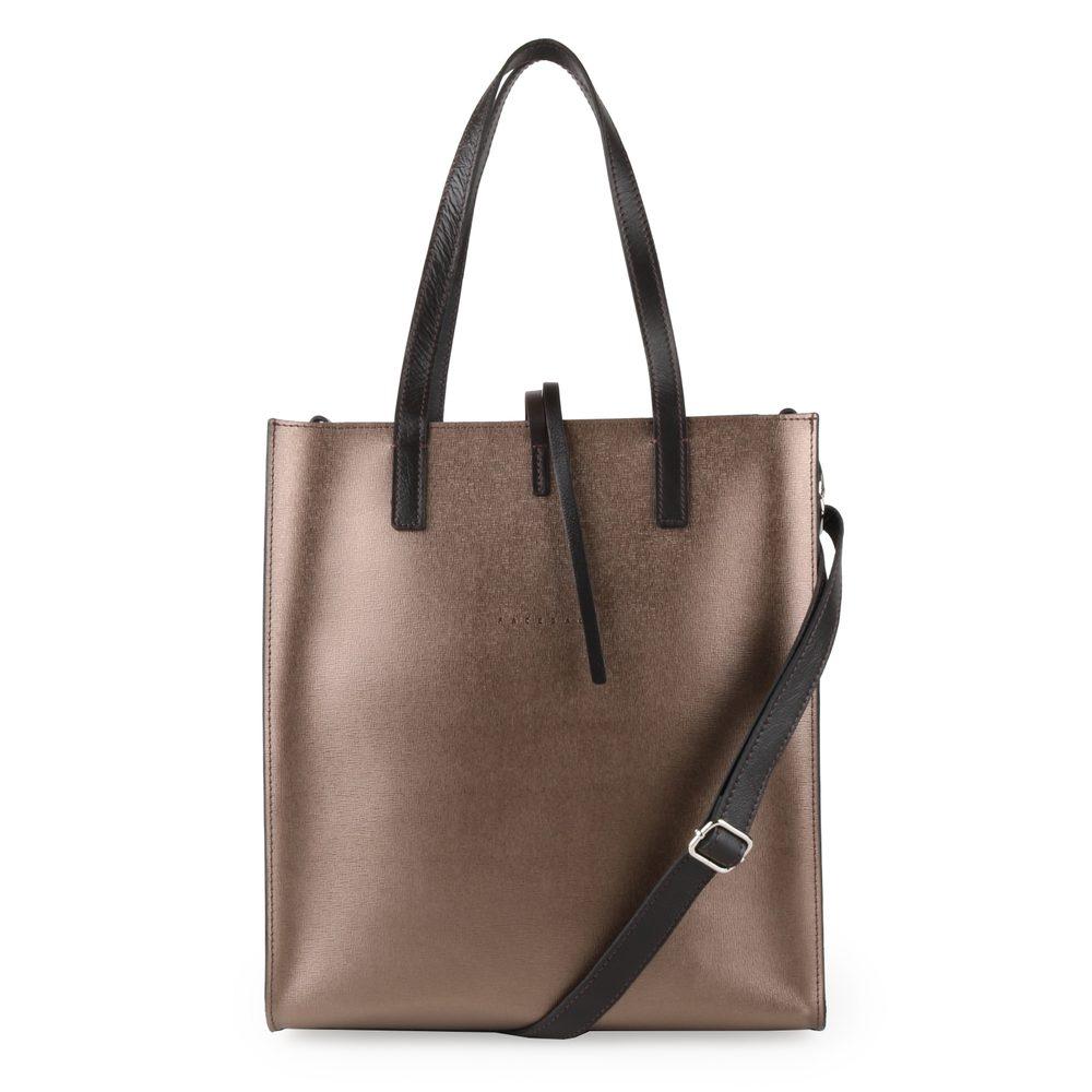 Unidax Dámská kožená kabelka přes rameno Facebag Reims 8010 - bronzová