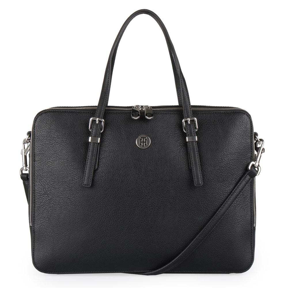 Tommy Hilfiger Dámská taška na notebook Honey AW0AW07298 - černá