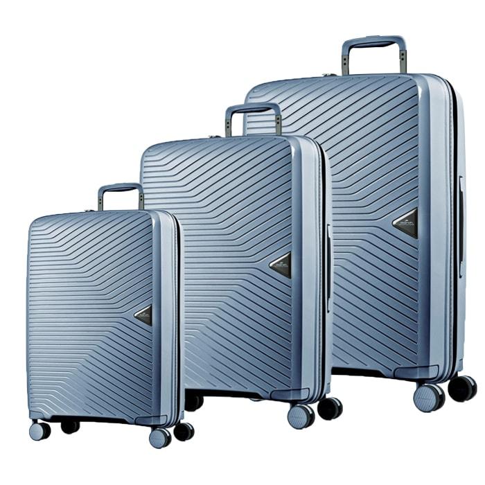 March Sada cestovních kufrů Gotthard S + M + L, světle modrá