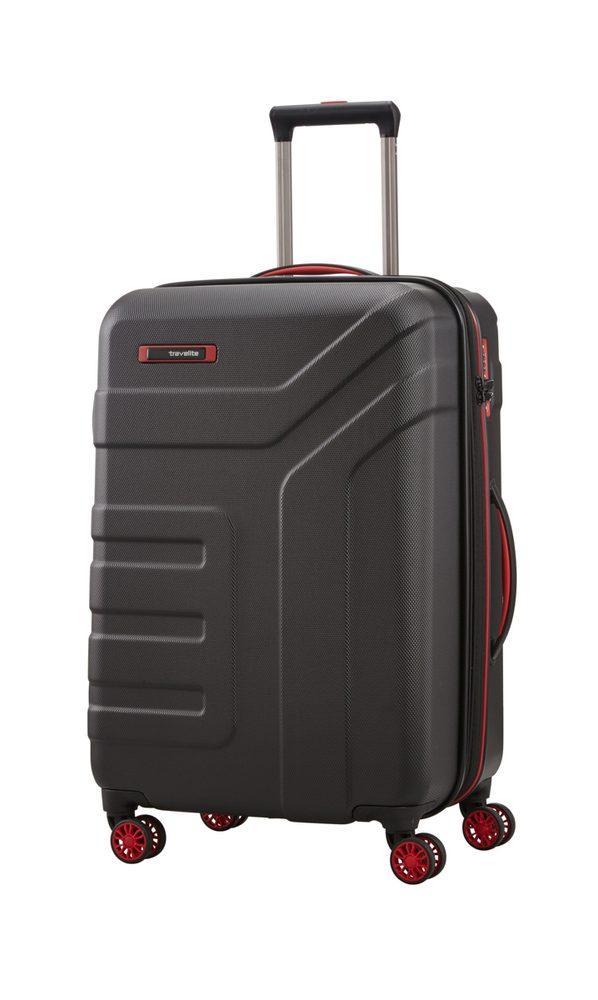 Travelite Skořepinový cestovní kufr Vector 4w M Black 79/91 l