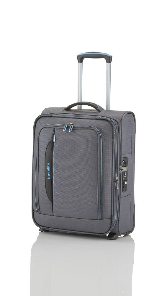 Travelite Kabinový cestovní kufr CrossLITE 2w S Anthracite 42/48 l