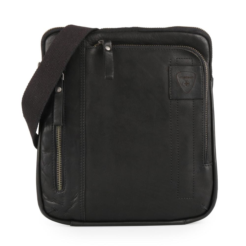 Strellson Pánská kožená taška přes rameno Upminster 4010001927