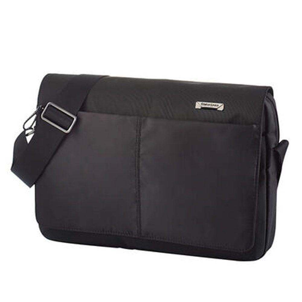 Samsonite Pánská taška přes rameno Hip-Tech 2 Messenger 12,9'' + Flap - černá