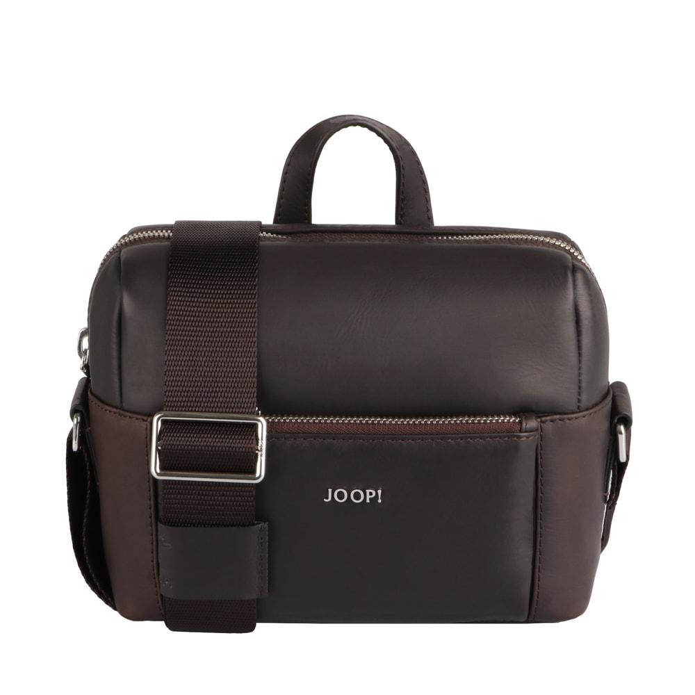 JOOP! Pánská kožená taška přes rameno Remus 4140004473 - tmavě hnědá