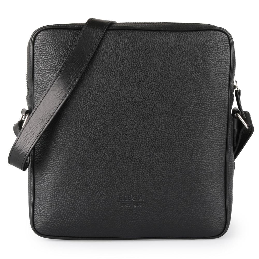 Elega Pánská kožená taška přes rameno Charles 69368 - černá