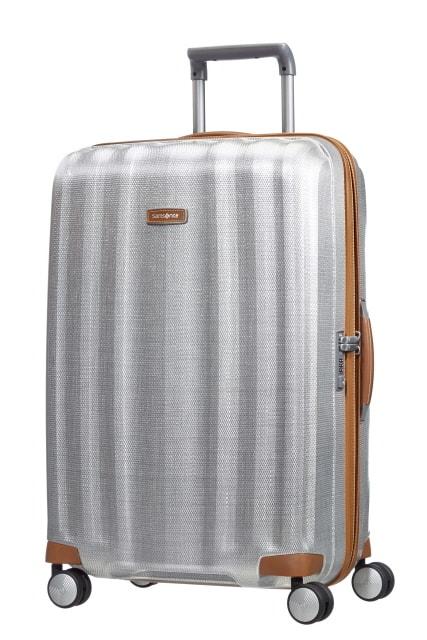 Samsonite Cestovní kufr Lite-Cube DLX Spinner 82V 96 l - stříbrná