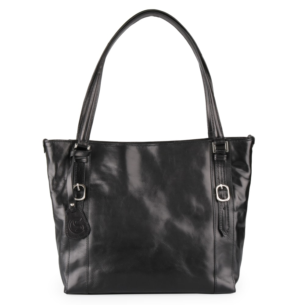 Sněžka Náchod Dámská kožená kabelka přes rameno 5098 - černá