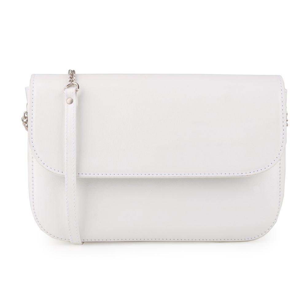 Hajn Dámská kožená kabelka přes rameno 1625815 - bílá