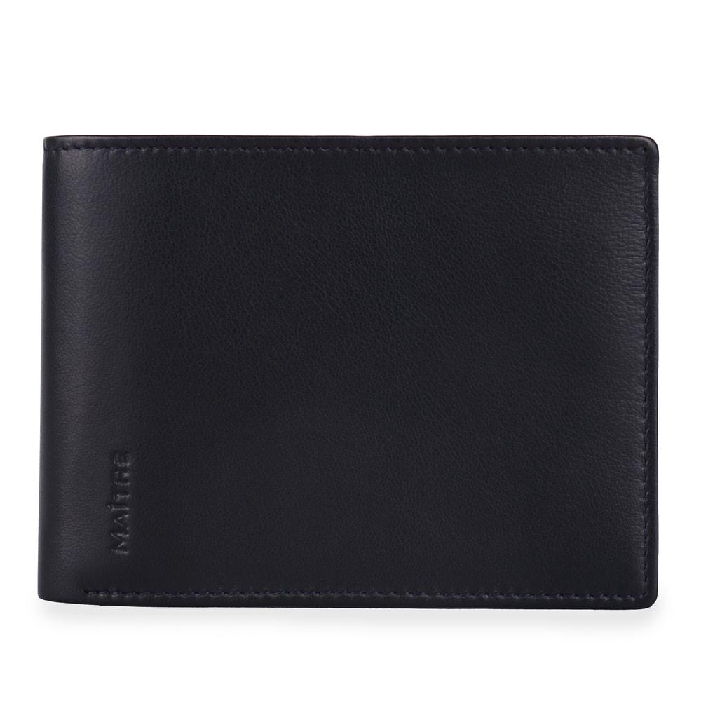 Maitre Pánská kožená peněženka Raumbach Galbert Billfold 4060001504 - tmavě modrá