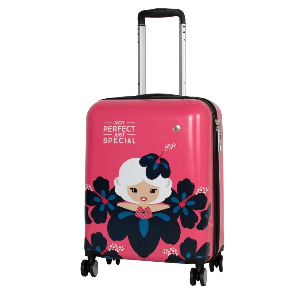 Travelite Kabinový cestovní kufr Lil' Ledy 4w S hardcase Coral 38 l