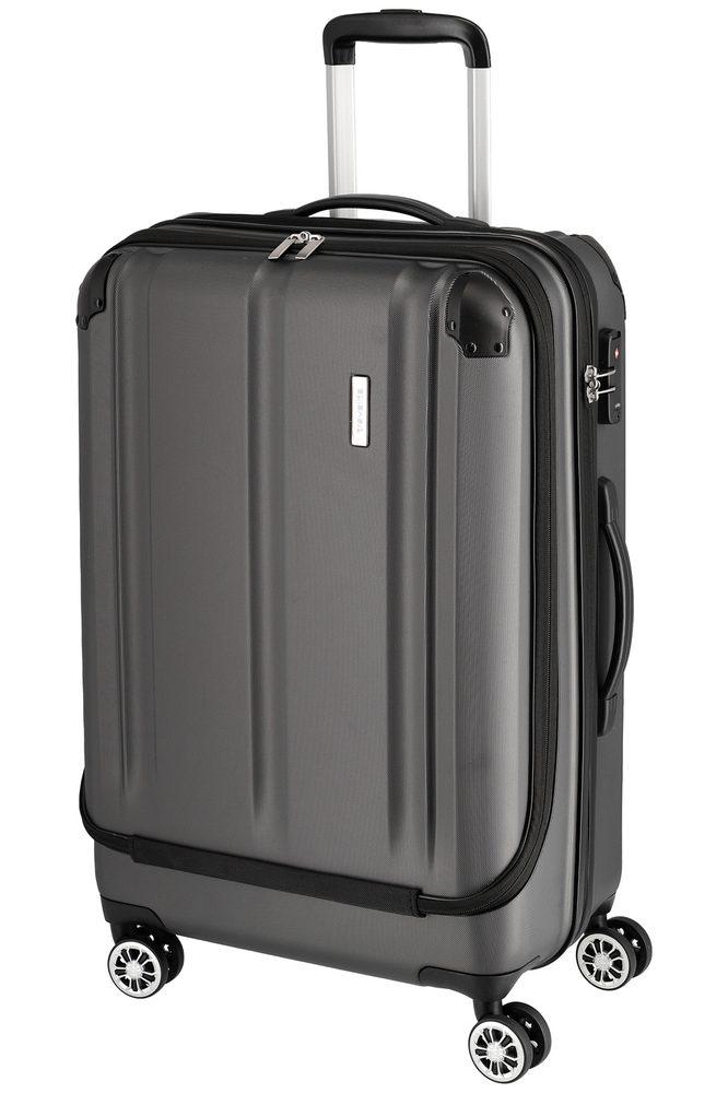 Travelite Skořepinový cestovní kufr City 4w Business wheeler M Anthracite 44 l