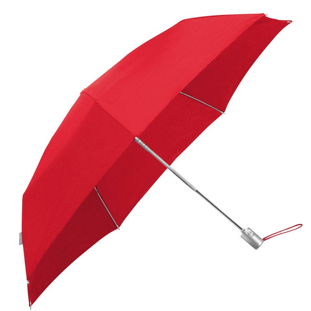 Samsonite Skládací automatický deštník Alu Drop S Slim - červená
