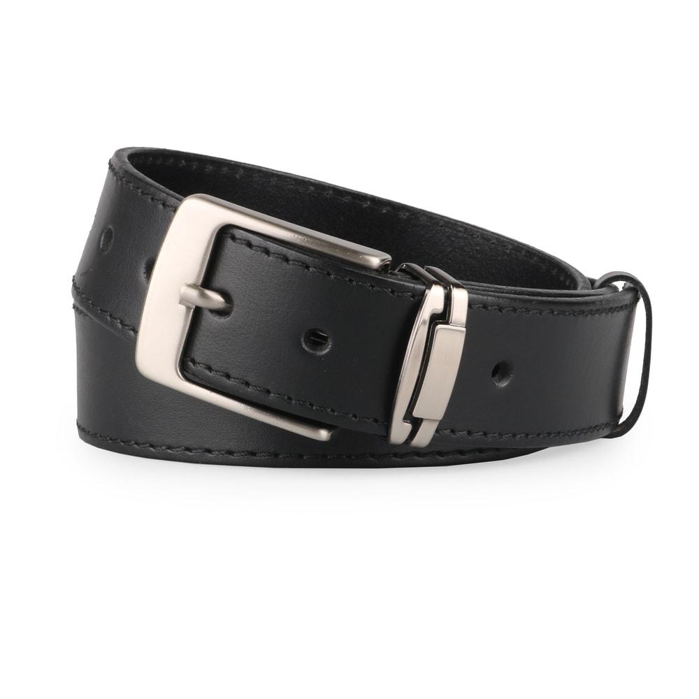 Penny Belts Pánský kožený opasek R1-1-60 černý - 100