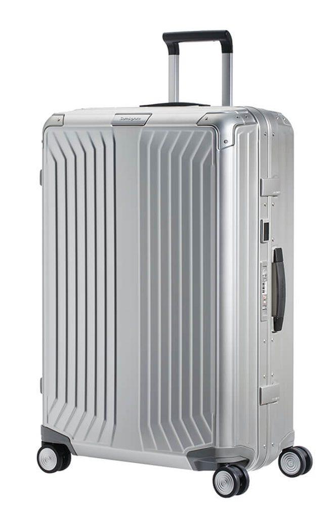 Samsonite Hliníkový cestovní kufr Lite-Box Alu L 91 l - stříbrná