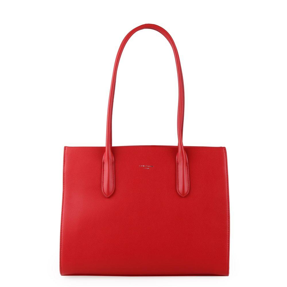 David Jones Paris Dámská kabelka přes rameno 6253-2 - červená