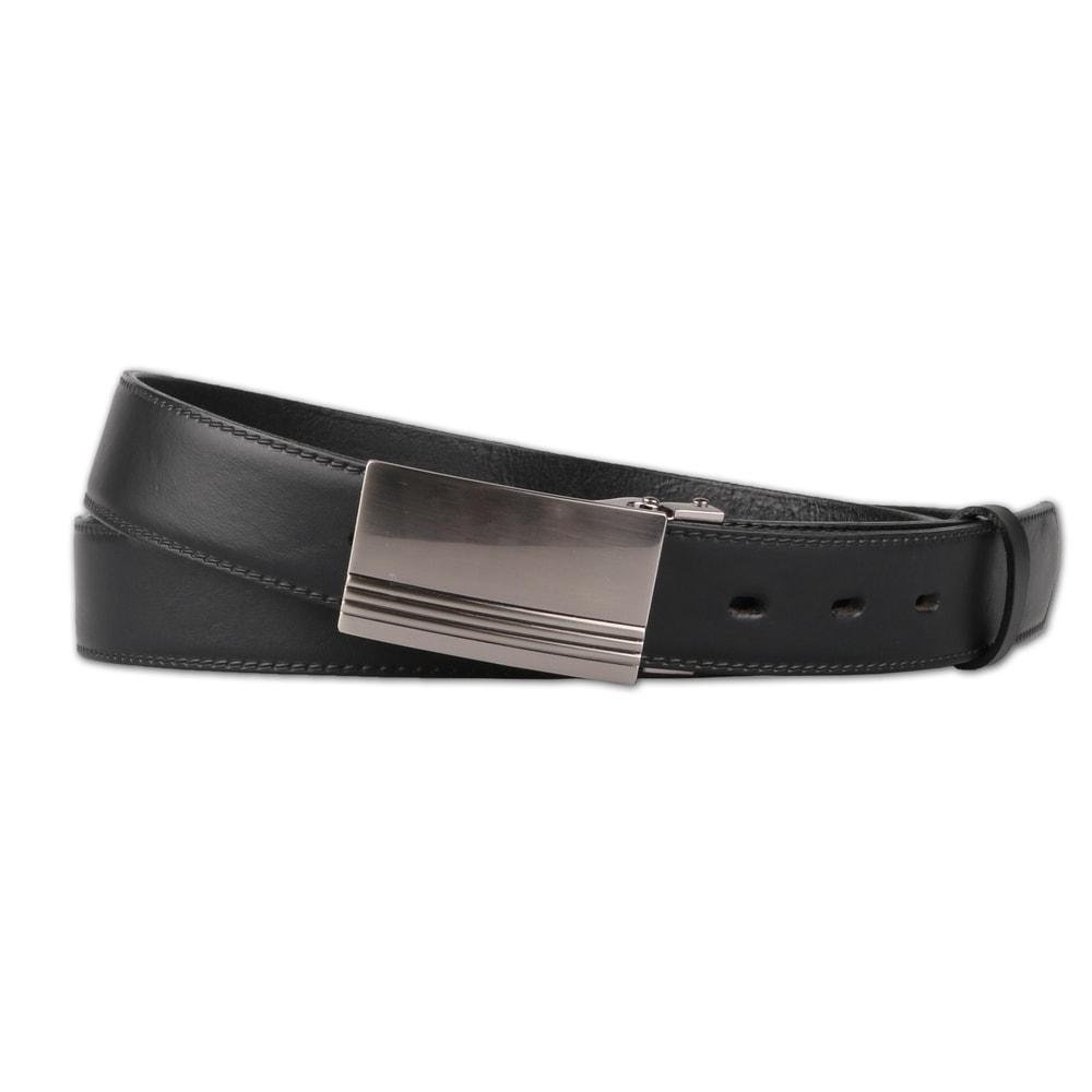 Penny Belts Pánský nadměrný kožený opasek černý - 120