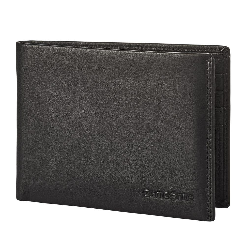 Samsonite Pánská kožená peněženka Attack 2 SLG 005 - černá