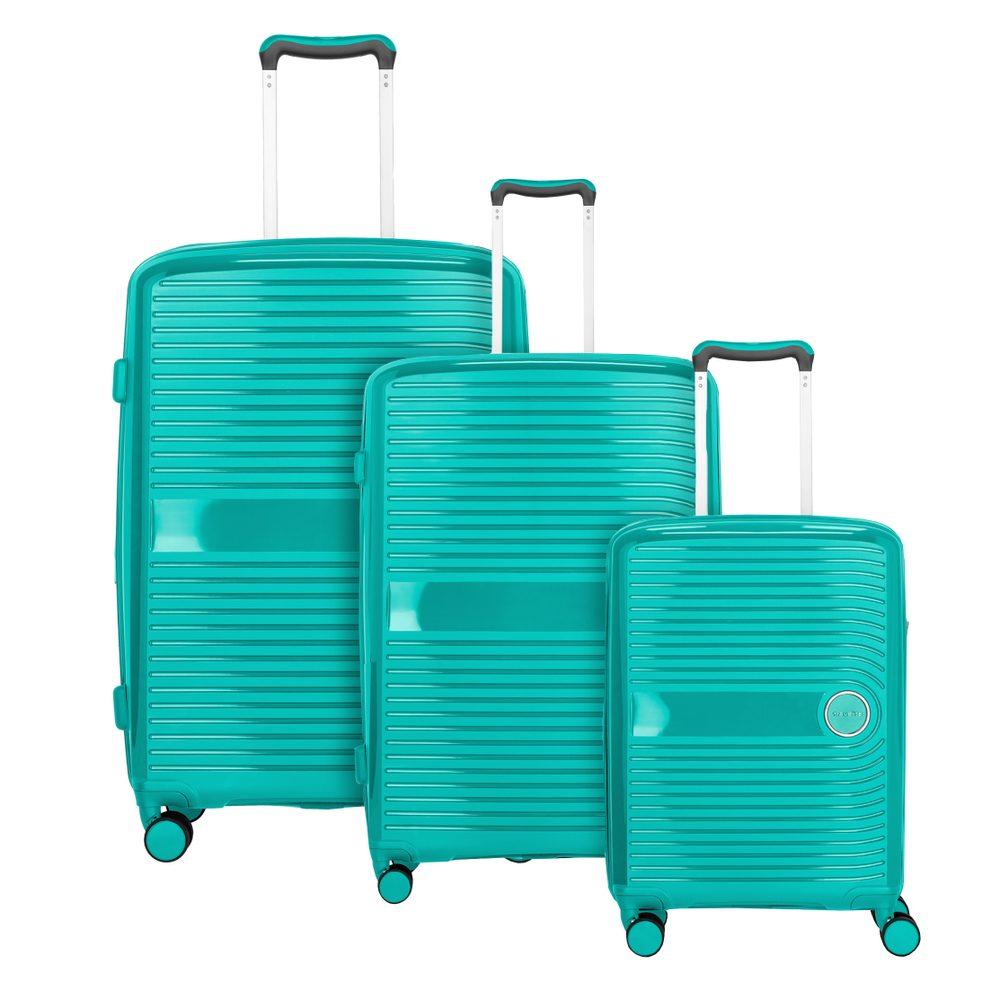 Travelite Sada cestovních kufrů Ceris S + M + L Green