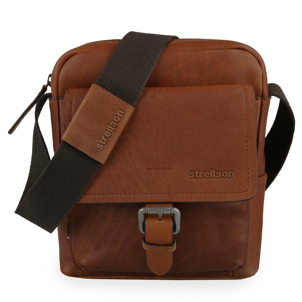 Strellson Pánská kožená taška přes rameno Turnham 2 4010002586 - hnědá