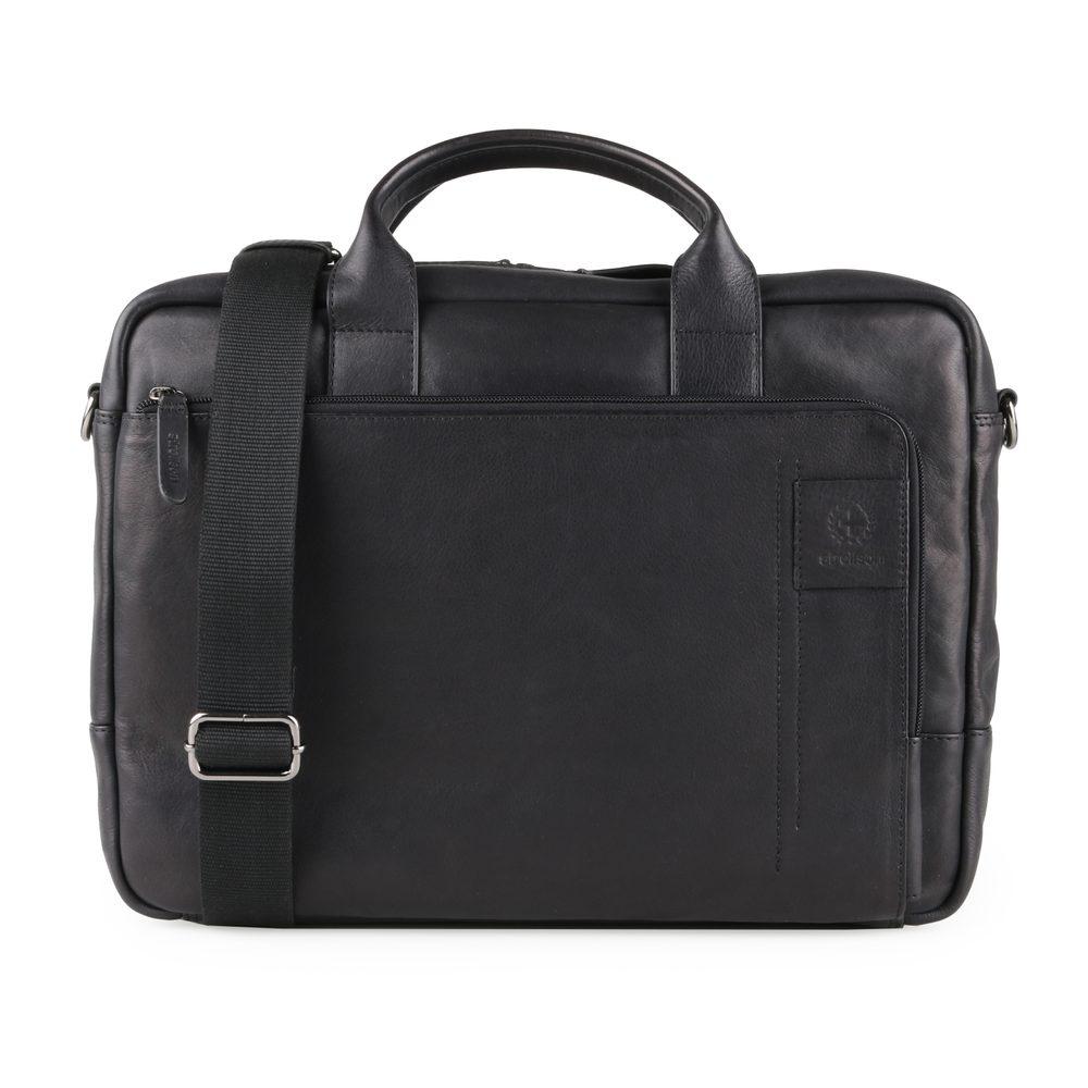 Strellson Pánská kožená taška přes rameno Hyde Park 4010002765 - černá