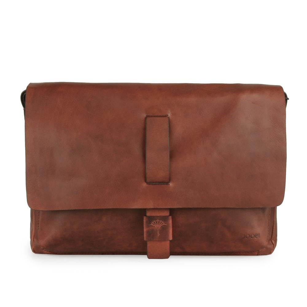 JOOP! Pánská kožená taška přes rameno Loreto 4140003464 - hnědá