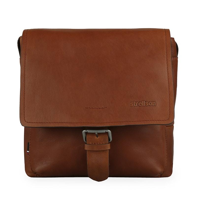 Strellson Pánská kožená taška přes rameno Turnham 2 4010002585 - hnědá