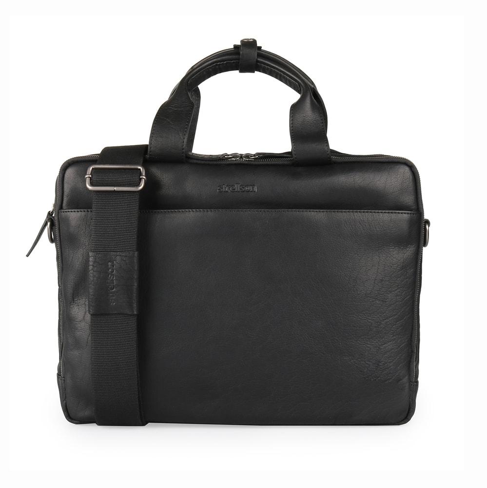 Strellson Pánská kožená taška do ruky Coleman 4010002309 - černá