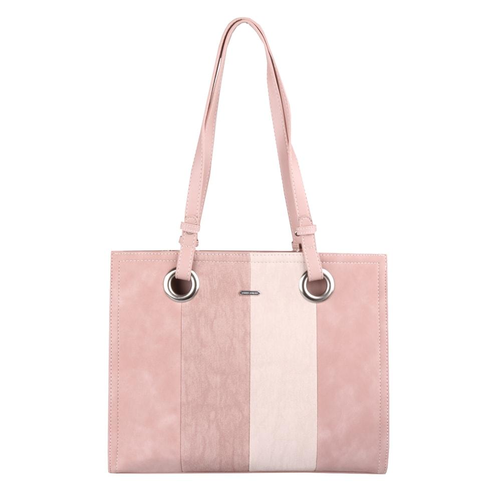 David Jones Paris Dámská kabelka přes rameno CM5185 - světle růžová