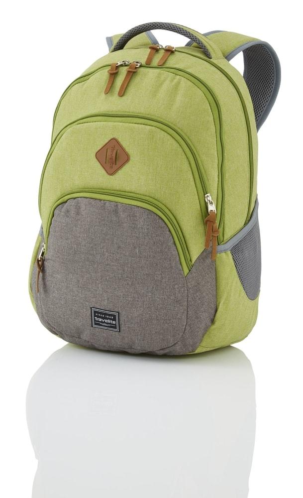 Levně Travelite Městský batoh Basics Backpack Melange Green/grey 22 l