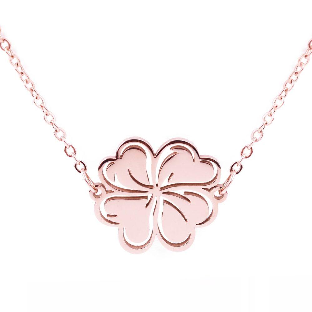 Vuch Dámský náhrdelník Lucky Rose Gold