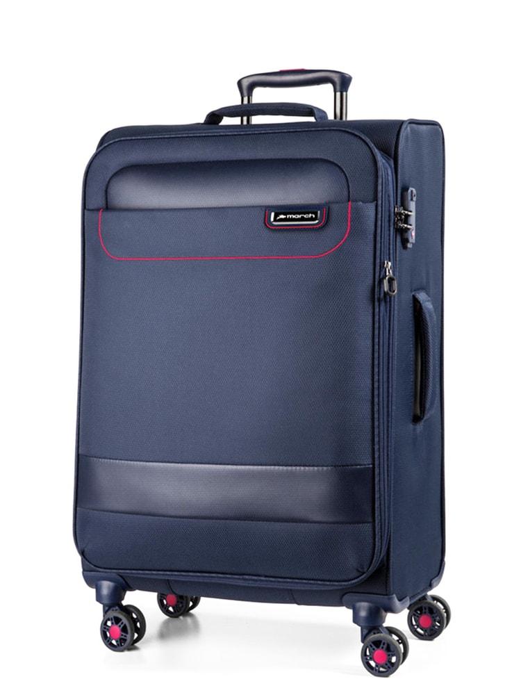 March Látkový cestovní kufr Tourer L 104 l - tmavě modrá