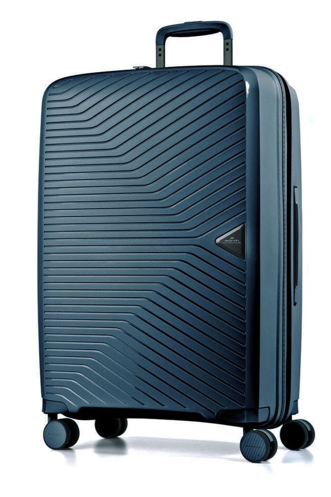 March Skořepinový cestovní kufr Gotthard L 111 l - modrá