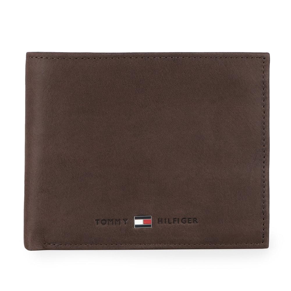 Tommy Hilfiger Pánská kožená peněženka Johnson Trifold AM0AM00665 - hnědá
