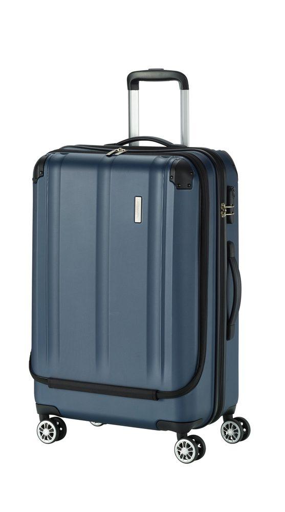 Travelite Skořepinový cestovní kufr City 4w Business wheeler M Navy 44 l