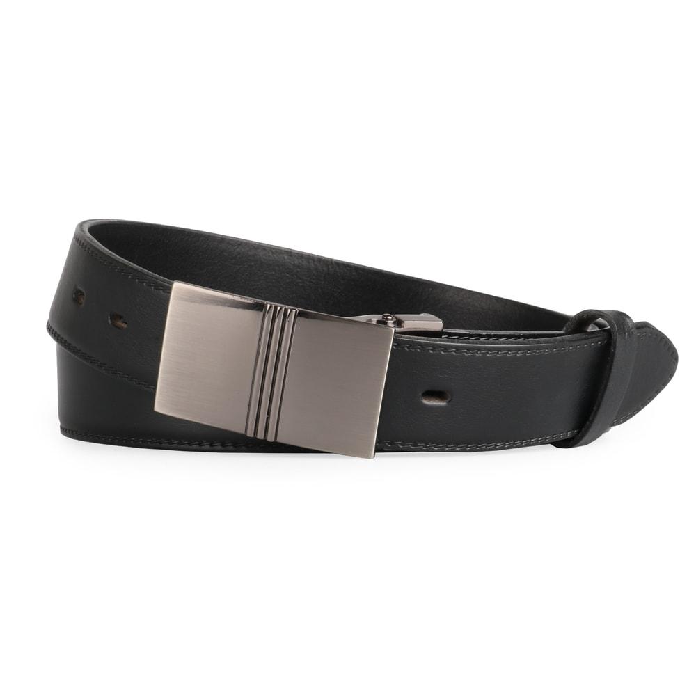 Penny Belts Pánský kožený opasek 35/020/6PS, černý - 100