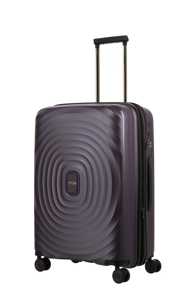 Titan Skořepinový cestovní kufr Looping M Purple 71/82 l