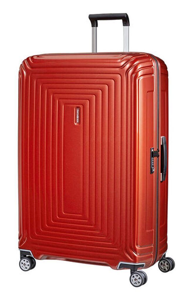 Samsonite Cestovní kufr Neopulse Spinner 44D 124 l - METALLIC INTENSE RED