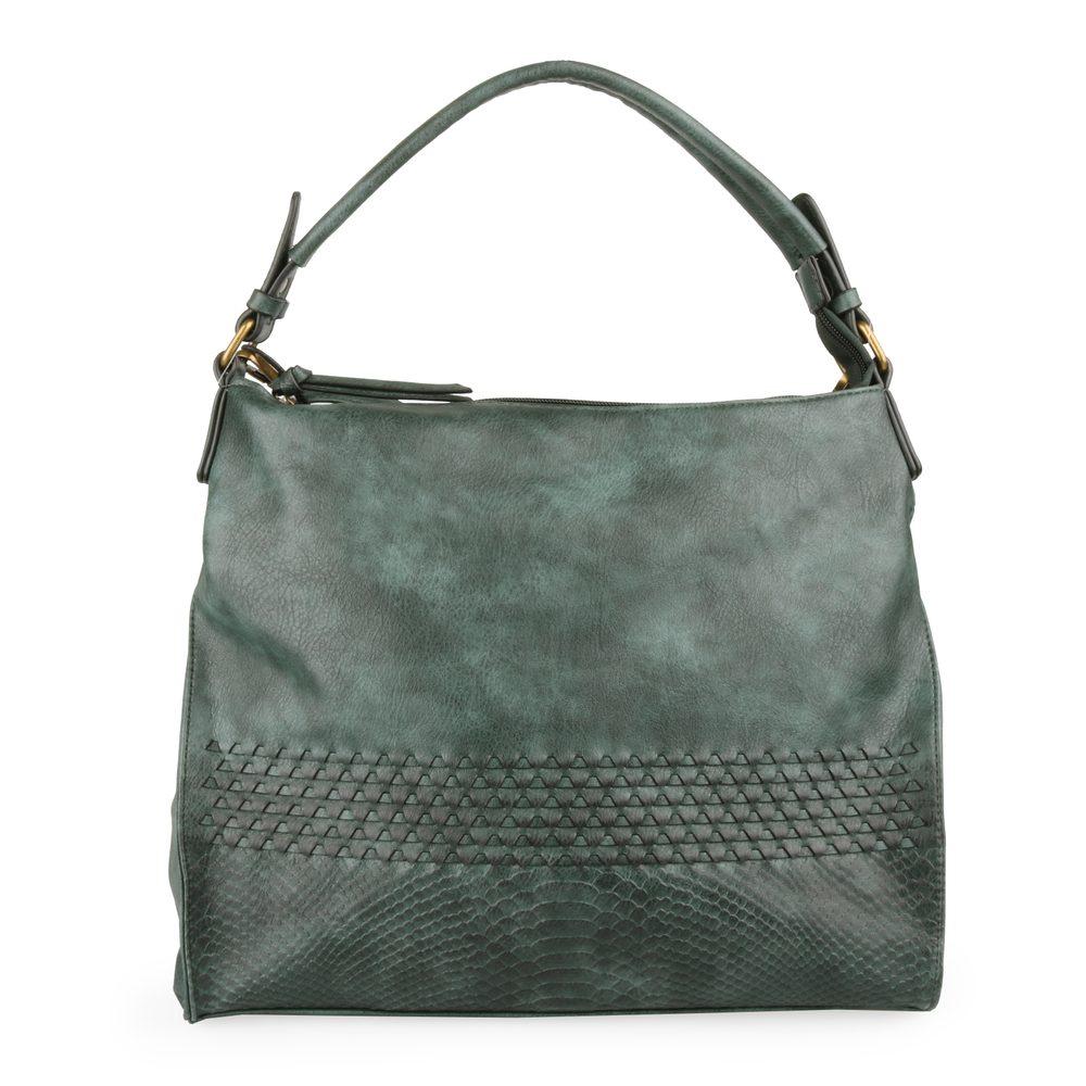 Mandoline Dámská kabelka přes rameno MD7221 - tmavě zelená