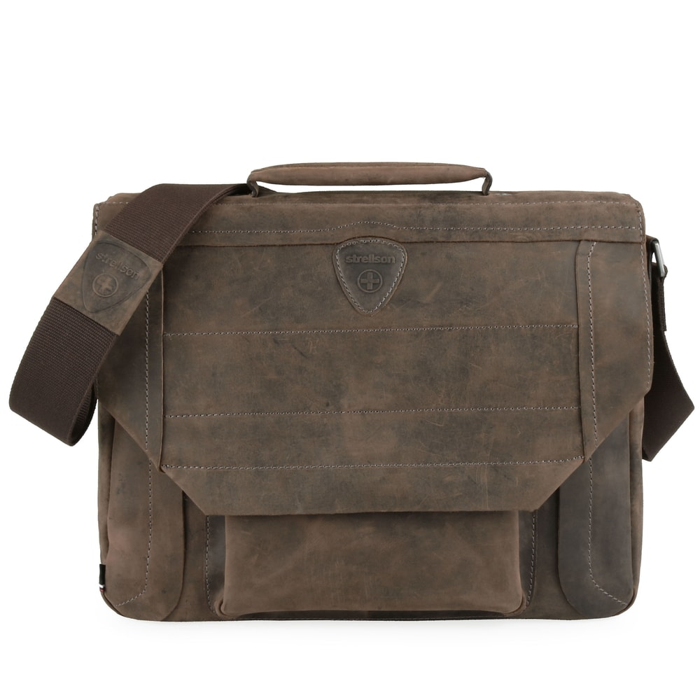 Strellson Pánská kožená taška přes rameno Hunter 4010002560