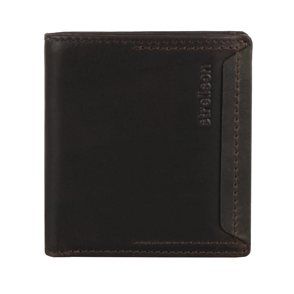 Strellson Pánská kožená peněženka Camden 4010002296 - tmavě hnědá