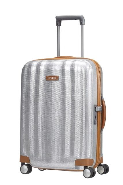 Samsonite Kabinový cestovní kufr Lite-Cube DLX Spinner 82V 36,5 l - stříbrná
