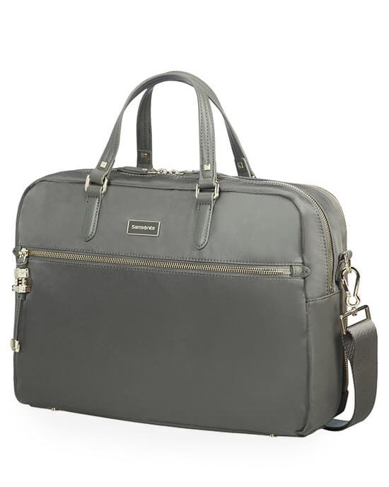 """Samsonite Dámská taška na notebook Bailhandle 2 Comp Karissa Biz 15.6"""" - šedá/zelená"""