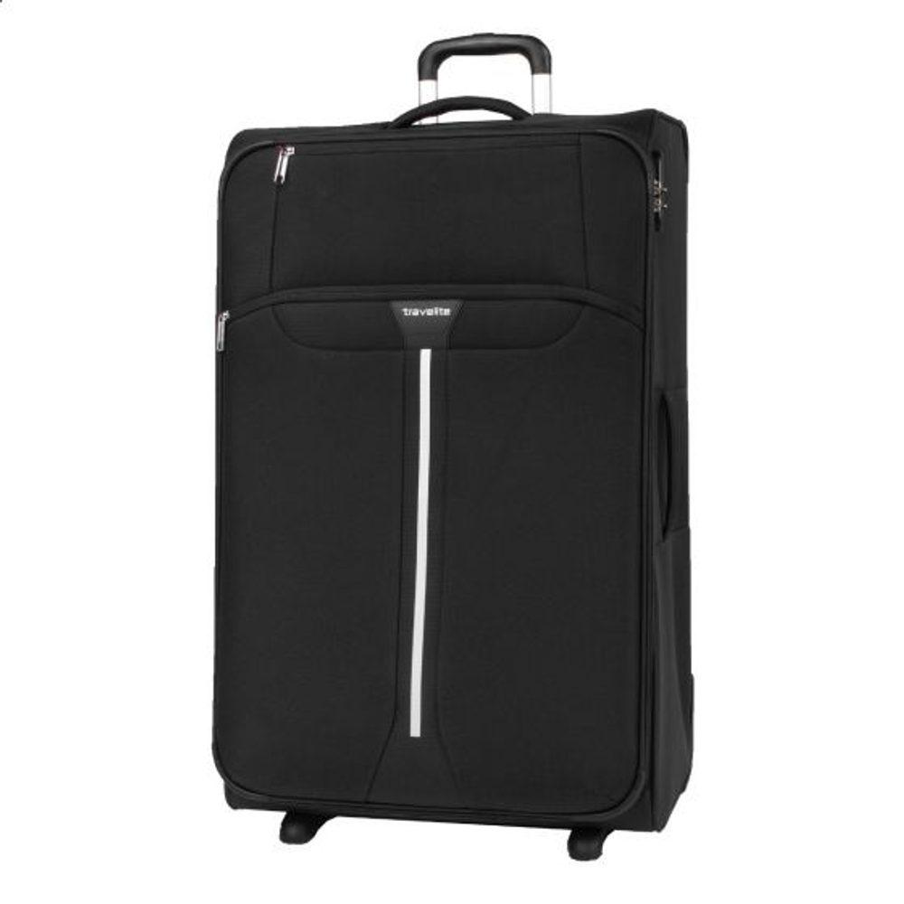 Travelite Látkový cestovní kufr Speedline 2w L Black 95 l
