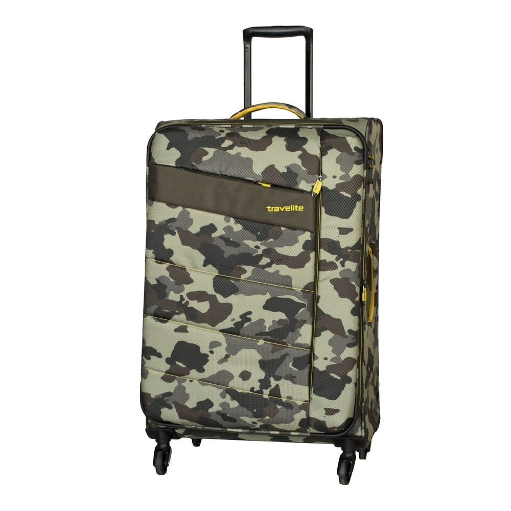 Travelite Cestovní kufr Kite 4w L Camouflage 89949-86 95/109 l