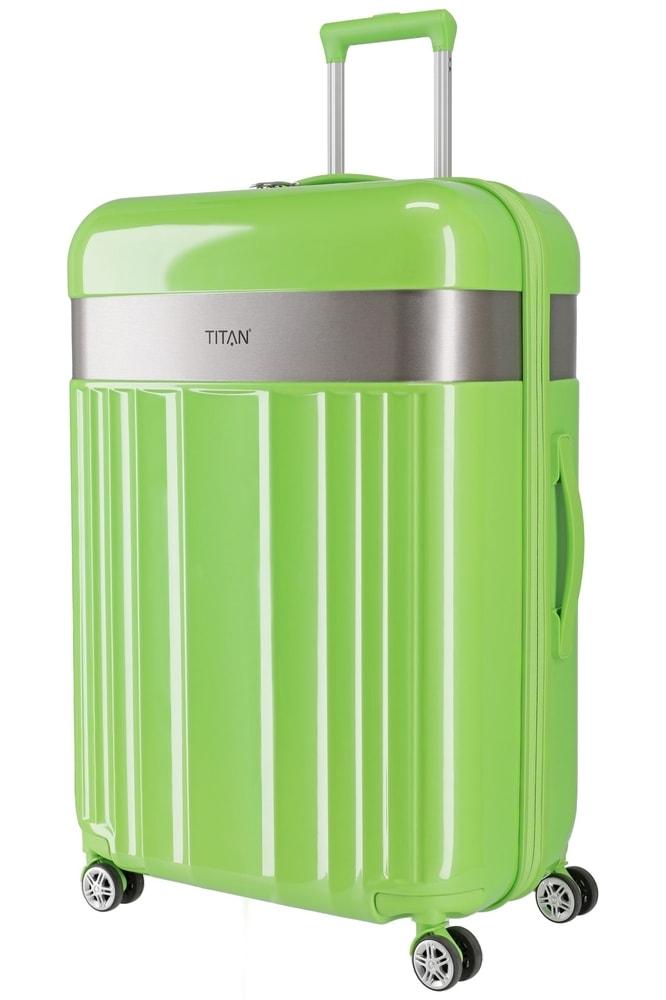 Titan Skořepinový cestovní kufr Spotlight Flash 4w L Flashy Kiwi 102 l