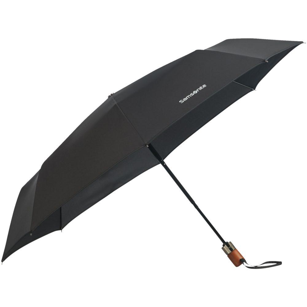 Samsonite Skládací automatický deštník Wood Classic S Short - černá