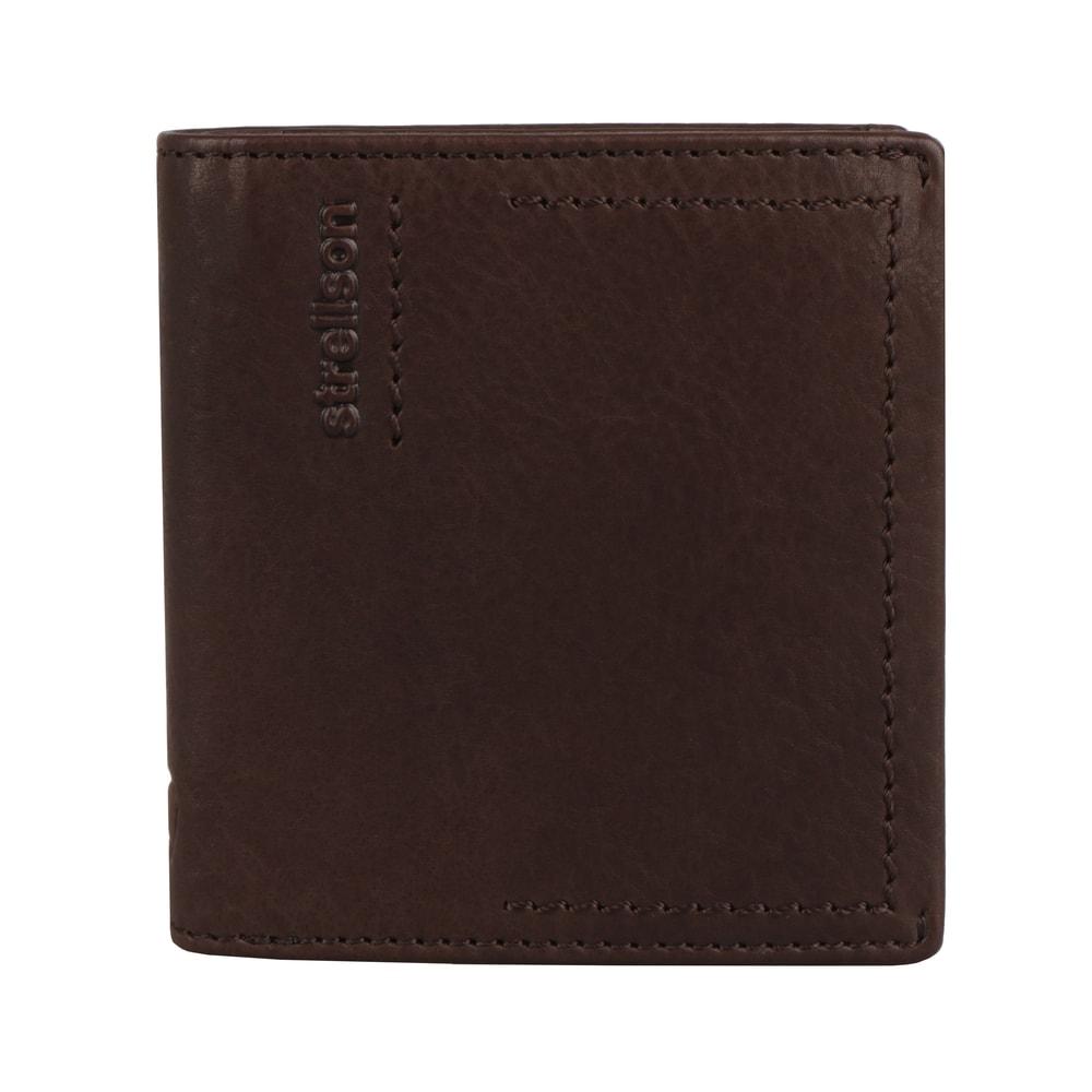 Strellson Pánská kožená peněženka Norton 4010002441 - tmavě hnědá