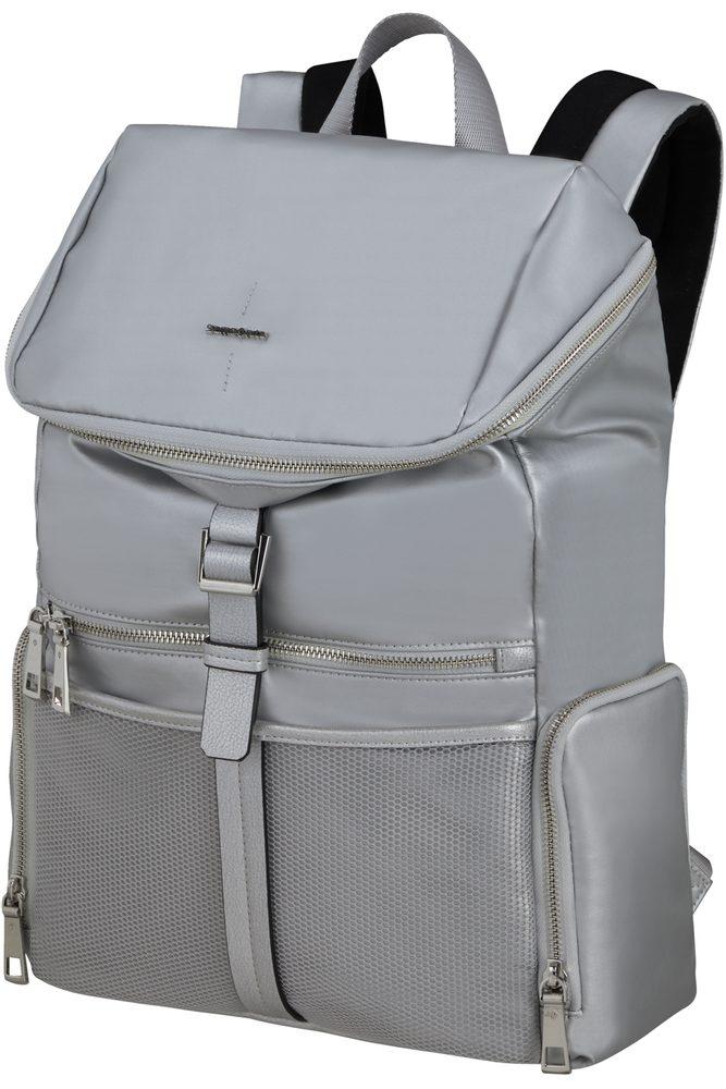 """Samsonite Dámský batoh na notebook 14.1"""" Activ-Eight 17 l - stříbrná"""