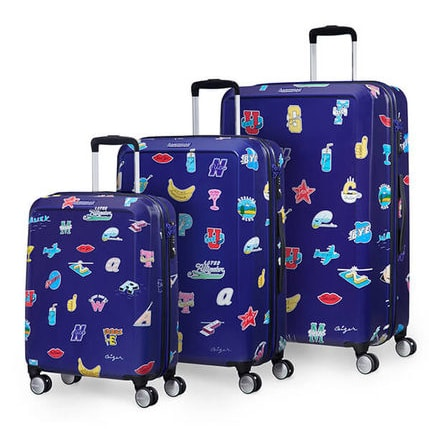 American Tourister Sada kufrů Ceizer Fun S+M+L 66G 36/64/96 l - modrá